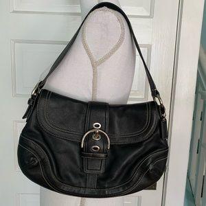 Coach G0778-F10910 Black Leather Hobo Shoulder Bag
